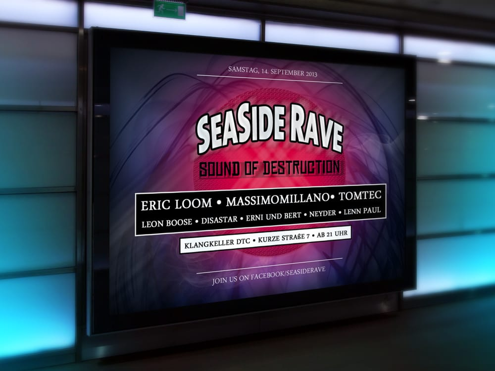 Seaside Rave – Plakatgestaltung