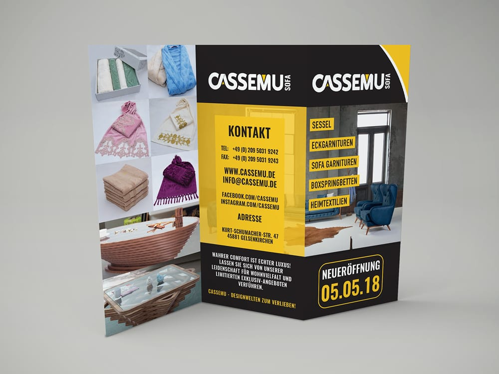 Creative Media Düsseldorf CASSEMU Flyer Gestaltung