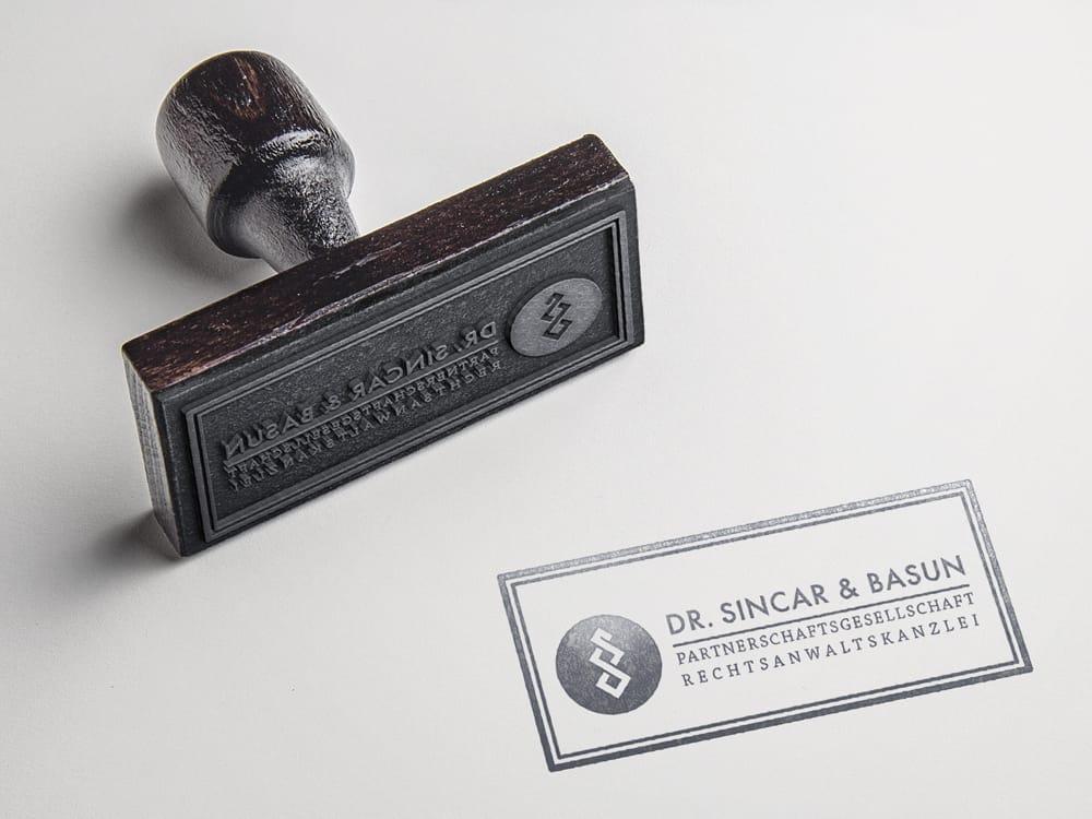 Creative Media Düsseldorf Dr. Sincar & Basun Stempel Logo